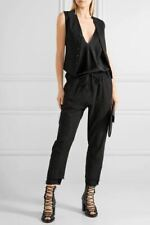 HAIDER ACKERMANN Frayed Jersey Trimmed Cotton Twill Track Pants S BRAND NEW