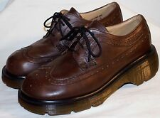 DR MARTENS 8604 4i PLATFORM WINGTIP OXFORDS UK 6 US 8 EU 39 BROWN EXCELLENT COND