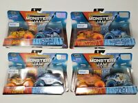 2019 MONSTER JAM TRUCKS [DOUBLE DOWN] Spin Master - FIRE + ICE NIB Max-D ZOMBIE