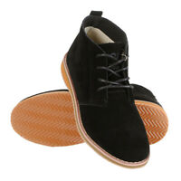 Mens Suede Desert Boots Mid Hi Top Leather Lace Up Shoes Size