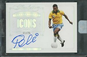 2015-16 Panini Flawless Soccer International Icons Pele Signed AUTO 11/25 Brazil