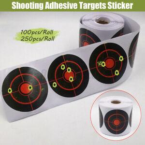 250PCS Roll Shooting Adhesive Targets Splatter Reactive Targets Sticker 7.5