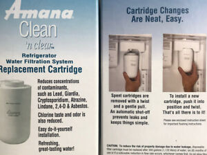 Amana Clean n Clear Pack Of 2 Refrigerator  Water Filter New WF401S