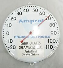 ROUND THERMOMETER ADVERTISING LAND O LAKES CREAMERY