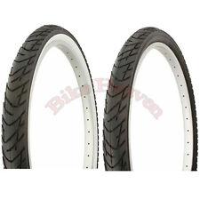 """1 par de neumático de bicicleta Duro 26"""" X 2.125 Todo Negro o Negro/Blanco Playa Crucero Neumático"""