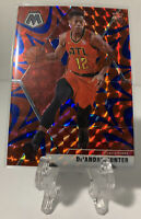 De'Andre Hunter 2019-20 Panini Mosaic Red Blue Reactive Prizm Rookie #239 Hawks