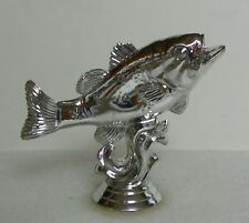 45 Silver Plastic Fish Trophy Toppers Lot Crafts