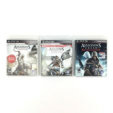 Assassin's Creed Lot PlayStation 3 Black Flag Revelations And Assassins Creed 3