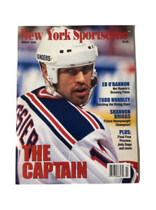 New York Sportscene March 1996 Mike Messier NY Rangers The Captain