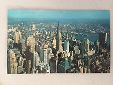 VINTAGE NEW YORK CITY LOOKING NORTHEAST FROM EMPIRE STATE BUILDING 1957 POSTCARD