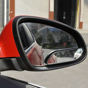 2x Car 360° Wide Angle Convex Blind Spot Mirror Stick On Rear View Accessories