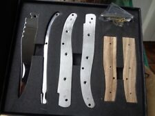 MI159 Couteau En Kit A Assembler Couteau Façon Laguiole Acier Inox Manche Bois