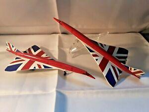 "2x Corgi 18cm Long - ""Best of British"" Union Flag - Concorde Models"