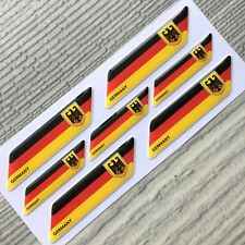 Germany German Flag Coat of Arms 3d domed emblem decal sticker