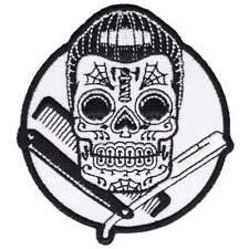 Kustom Kreeps Dapper Sugar Skull Iron On Patch Punk Rockabilly Embroidered