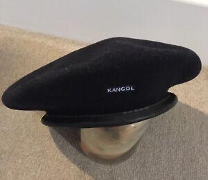 Kangol The Wool Monty Beret Size Medium Navy Unisex