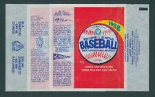 1988 O-PEE-CHEE OPC BASEBALL WAX PACK WRAPPERS / ALL 3 VARIATIONS - NO TEARS