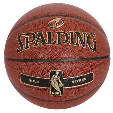 Spalding NBA New Gold Basketball Size7 Outdoor Indoor Street Games Ball 76-014Z
