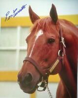 Secretariat photograph signed PORTRAIT Ron Turcotte autograph