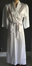 NWOT Bridal Hollywood White Dressing Gown/Robe Broderie Anglaise Lace Sz 8-10