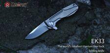 MecArmy EK33 Titanium Ti Flipper Knife Survival Kit S35VN+TC4+Necklace
