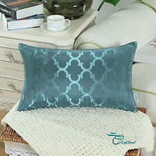 """12""""X20"""" CaliTime Chains Accent Geo Reversible Cushion Throw Covers Pillows Shell"""