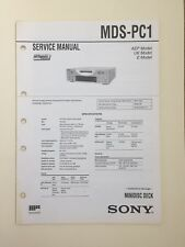 Sony MDS-PC1 Service Manual (original Document Not Copy Or PDF)
