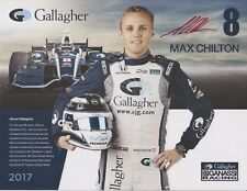 Indianapolis 500 Driver MAX CHILTON Signed Indy Team Hero Card