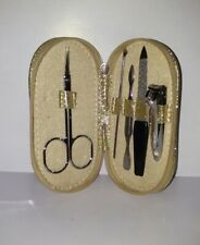 Ncla Los Angeles Cheers Nail Manicure Tool Kit Set- Gold Glitter Case Shell $16