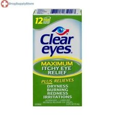 Clear Eyes Itchy Eye Relief Eye Drops, 0.5-Ounces