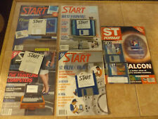 """New Listing5 Atari St Computer Magazines With 3.5"""" Disks (1 St Format) + (4 Start)"""