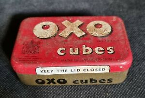 VINTAGE OXO CUBES TIN - LONDON ENGLAND - BY APPOINTMENT KING GEORGE VI