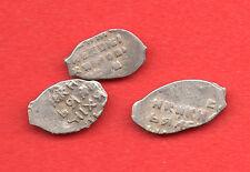 Russia Lot of 3 Coins Alexey Michailovich 1645-1676 Wire Copeck  F 241