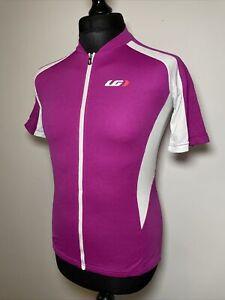 Louis Garneau Women's Purple Pink Olivenza Cycling Jersey Short Sleeve Shirt L