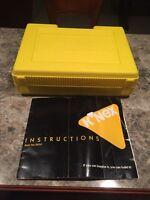 Knex Building Set K'nex Storage Yellow Box Wheels Rods Connectors Lot Assorted