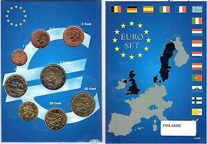 EURO  FINLANDE   SERIE COMPLETE 1C A  2 E NEUVE 1999/2002