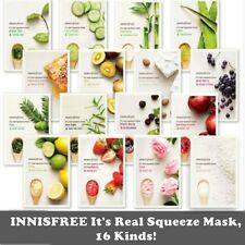 13 Sheets Innisfree It's Real Squeeze Masks 20ml Assorted 16 Types Cosmetics