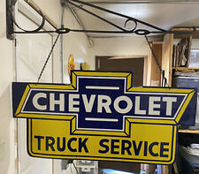 "Porcelain Chevrolet Truck service Enamel Sign ONLY 36"" x 18"" Inch double sided"