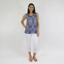 Regular Paisley Sleeveless Tops and Blouses for Women