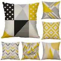 "New 18"" Cotton Linen Striped Pillow Case Sofa Cushion Cover Sofa For Home Decor"