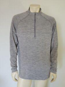 Lululemon Metal Vent Tech 1/2 Zip Pullover Long Sleeve Shirt Grey Size XL