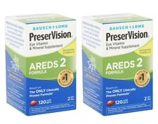 2 Pack Bausch Lomb Preservision Eye Vitamin AREDS 2 Formula 120 x2 Softgels 2019