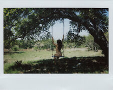OOAK Original Instax Wide Polaroid Photo - Nude Woman Brunette Natural Outdoor