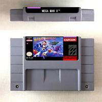 Mega Man X Game Card Console For Nintendo US Version SNES 16 Bit English
