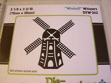 Die Versions Whispers  FIELDS WINDMILL METAL DIE  CARDS & SCRAPBOOKING DVW-242
