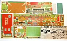 Marx #6041 HO Railroad and Village Construction Set, Pasteboard, Not Punched Out
