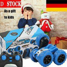 Ferngesteuertes Stunt Auto Spielzeugaut Auto Wiederaufladbar RC Rennauto Blau DE