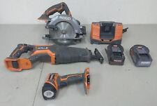 (83515) Ridgid 3-Piece Cordless Tool Set (Circular Saw, Reciprocal Saw, Light)
