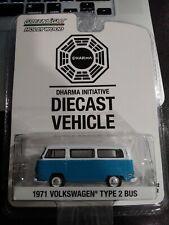 Greenlight Hollywood Dharma Initiative 1971 Volkswagen Type 2 Bus Series 12 BLUE
