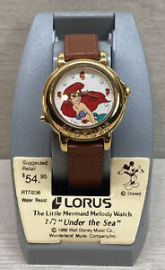 Vintage Disney Lorus The Little Mermaid Ladies Melody Watch Plays Under The Sea